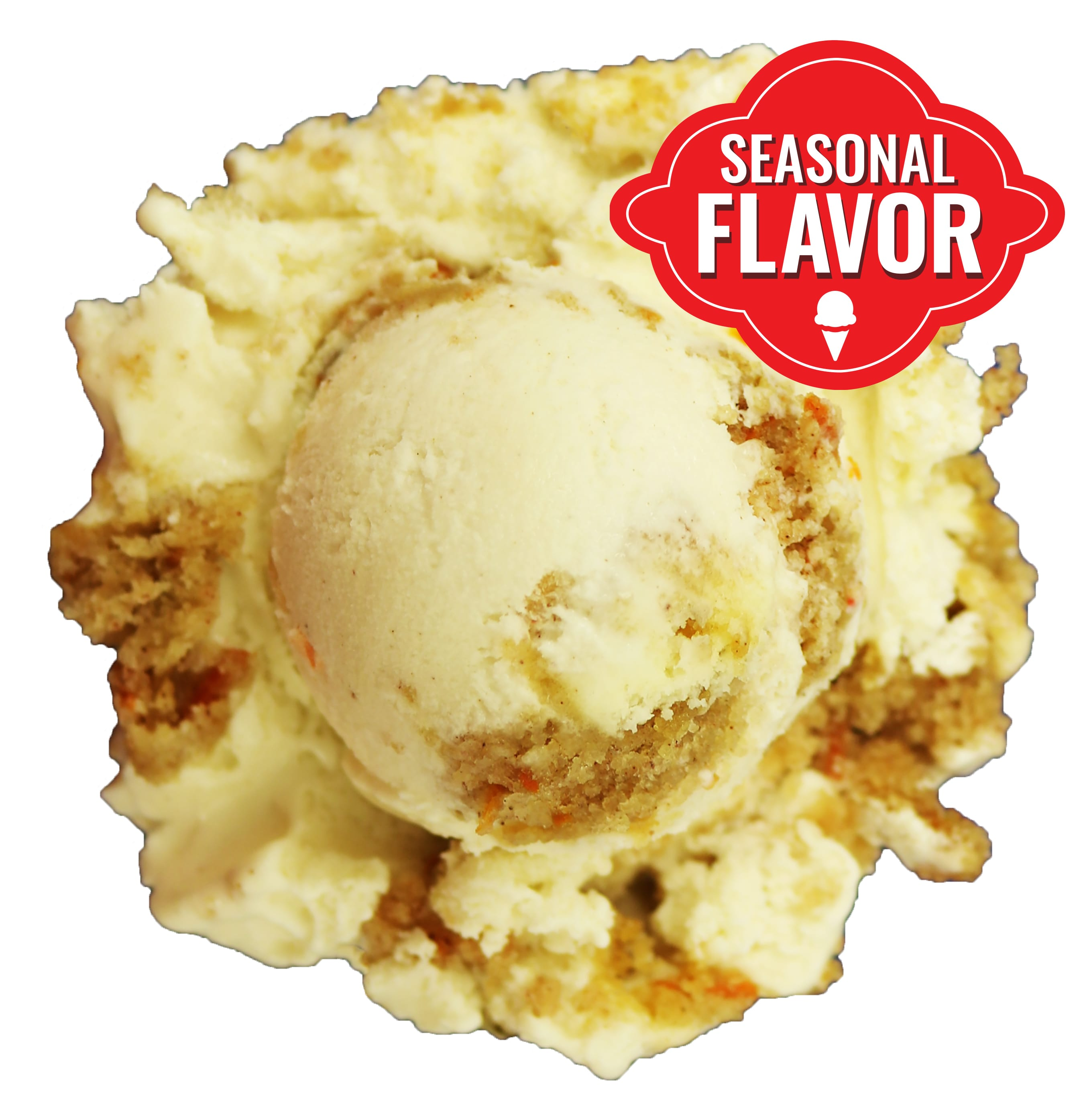 Carrot Cake Light Cinnamon Flavored Ice Cream