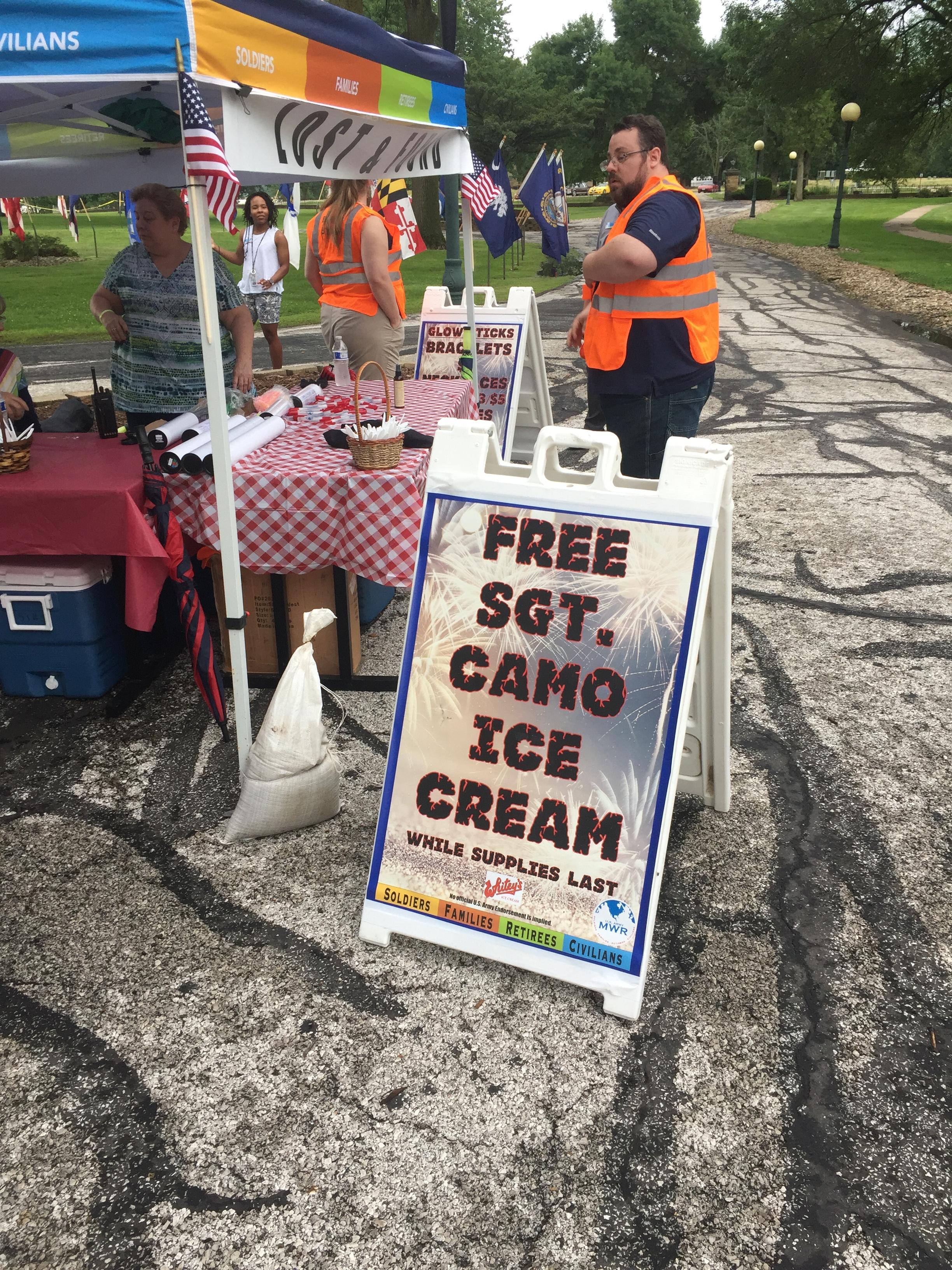 Sgt  Camo Ice Cream - Whitey's Ice Cream
